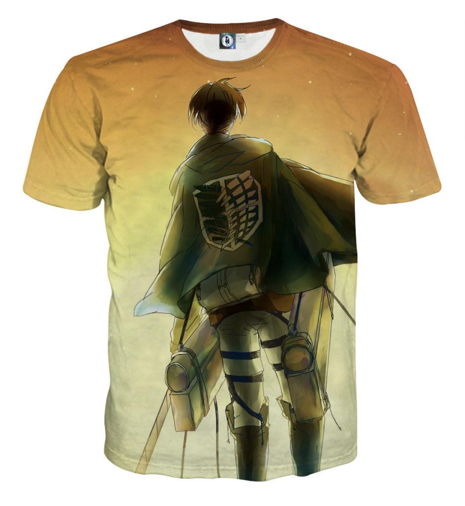 Tee shirt Attaque des titans sur la route