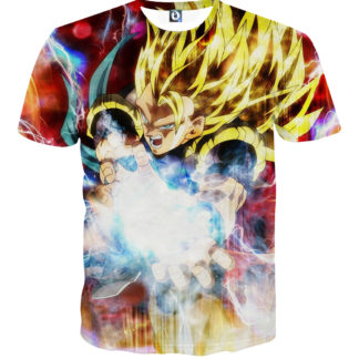 Tee shirt Dragon Ball Super San Goku super saiyan 3 attaque