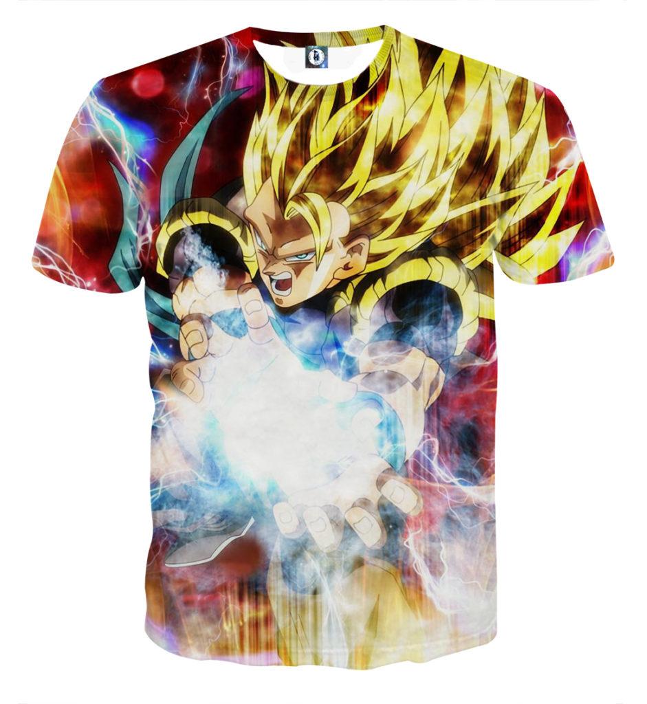 Tee shirt Dragon Ball Super San Goku super saiyan 3 attaque