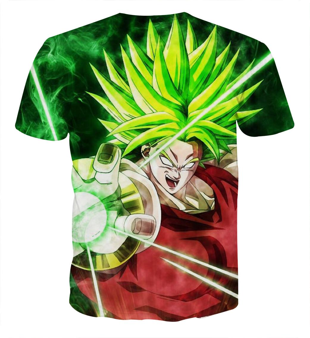 Tee shirt Dragon Ball Broly guerrier millénaire dos