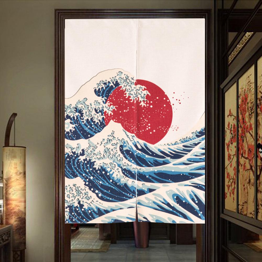 Rideaux japonais grande vague sous le soleil nippon