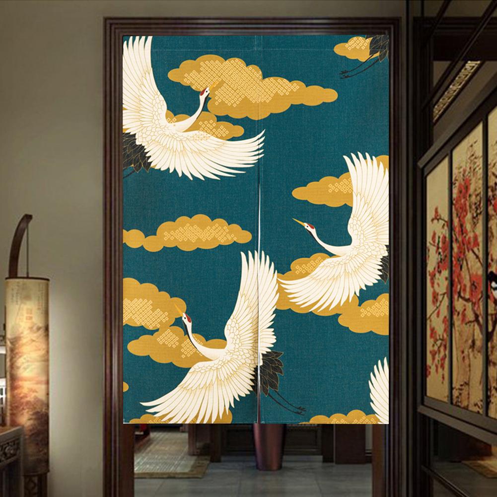 Rideaux japonais envol de grues