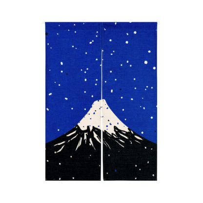 Rideaux japonais Fuji sous les étoiles