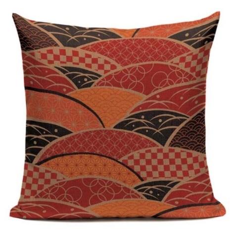 taie d 39 oreiller canvas japonais brillance 45 45cm la boutique du japon. Black Bedroom Furniture Sets. Home Design Ideas