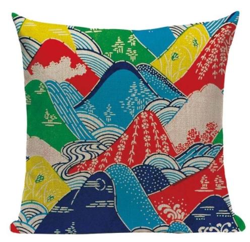 taie d 39 oreiller japon artistique canvas color s 45 45cm la boutique du japon. Black Bedroom Furniture Sets. Home Design Ideas