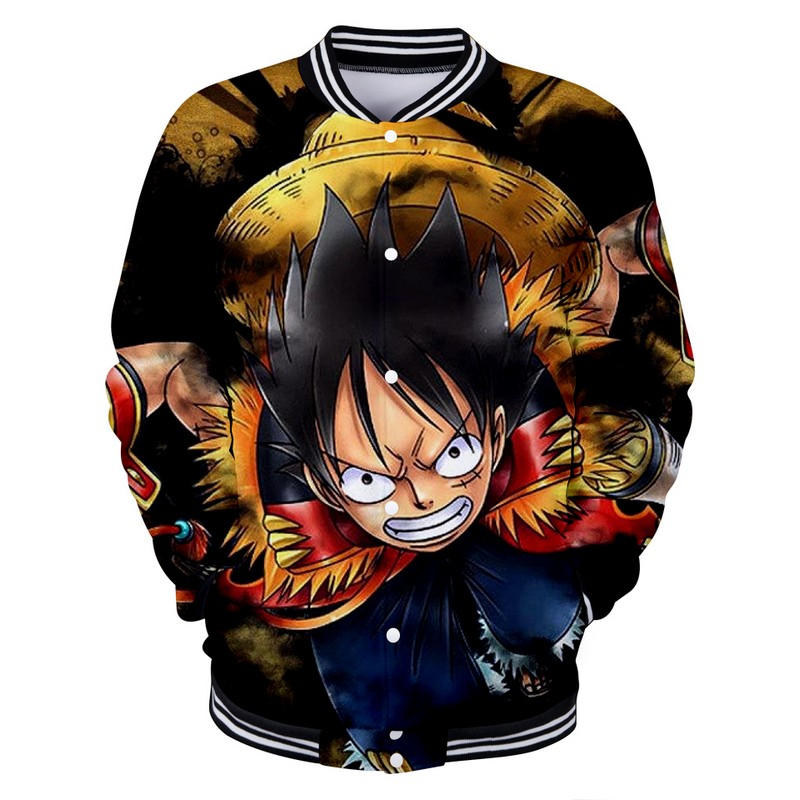 La Attaque De Japon Du Boutique Piece Baseball Veste One Luffy YfTWzFdnx